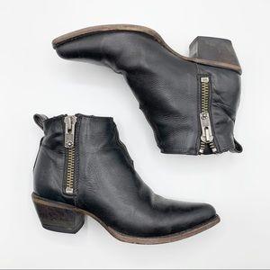 Frye | Black Sacha Moto Shortie Ankle Booties